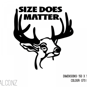 Size Does Matter Deer Head
