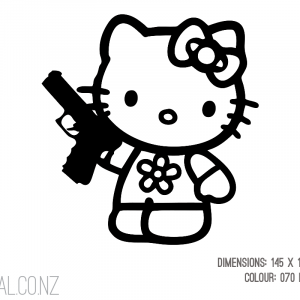 Hello Kitty With Pistol