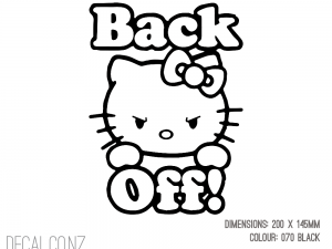 Hello Kitty Back Off