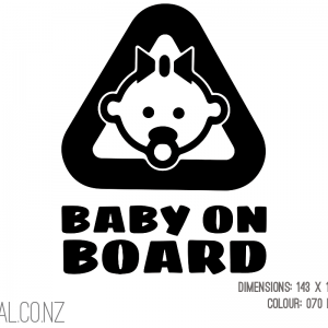 Baby On Board With Dummy