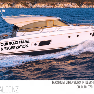 Custom Boat / Yacht Name & Registration Text Or Custom Image 1000x500mm